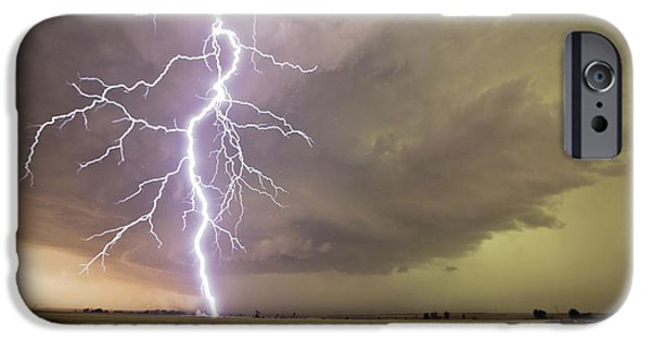 Lightning Strike IPhone Case by Roger Hill