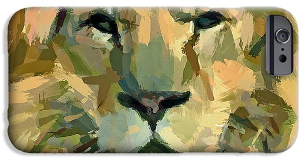 Lion Face Expression IPhone Case by Yury Malkov