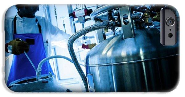 Liquid Nitrogen Transfer IPhone Case by Dan Dunkley