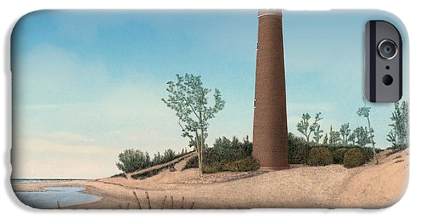 Little Sable Point Lighthouse IPhone Case by Darren Kopecky
