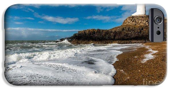 Llanddwyn Island Lighthouse IPhone Case by Adrian Evans