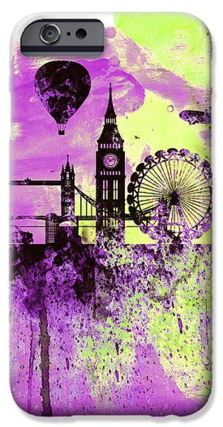 London Skyline Watercolor 1 IPhone 6s Case by Naxart Studio
