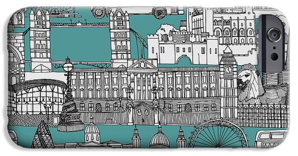 London Toile Blue IPhone 6s Case by Sharon Turner