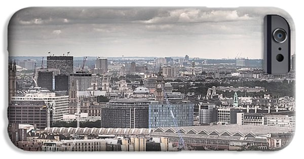 London Under Grey Skies IPhone 6s Case by Rona Black