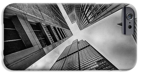 Looking Up Willis Tower IPhone Case by Mike Burgquist