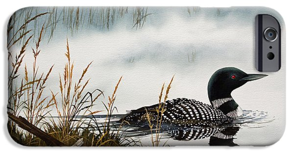 Loons Misty Shore IPhone 6s Case by James Williamson
