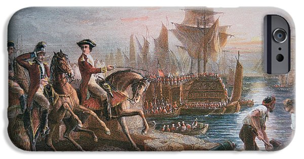 Lord Howe Organizes The British Evacuation Of Boston In March 1776 IPhone Case by English School