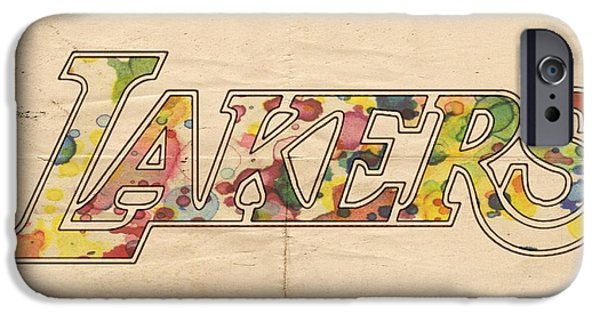 Los Angeles Lakers Logo Art IPhone Case by Florian Rodarte