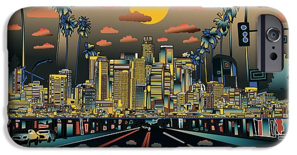 Los Angeles Skyline Abstract 2 IPhone 6s Case by Bekim Art