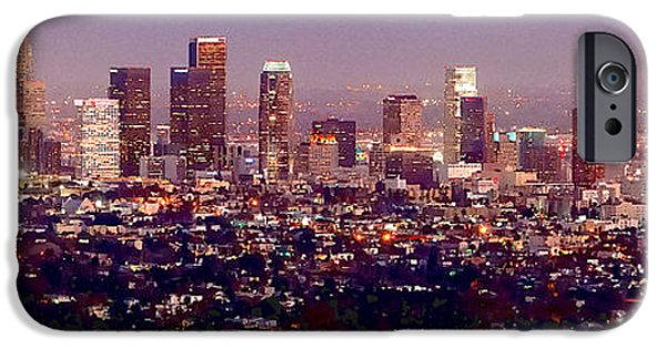 Los Angeles Skyline At Dusk IPhone 6s Case by Jon Holiday