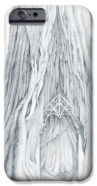 Lothlorien Mallorn Tree IPhone Case by Curtiss Shaffer
