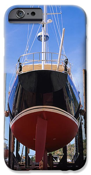 Low Angle View Of A Sailing Ship IPhone Case by Panoramic Images