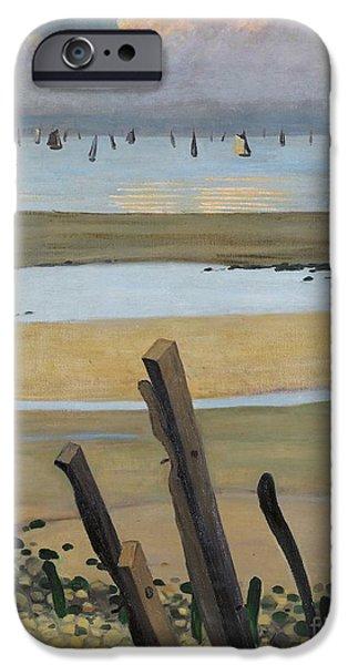 Low Tide At Villerville IPhone Case by Felix Edouard Vallotton
