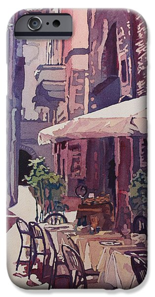 Lucca Cafe IPhone Case by Jenny Armitage