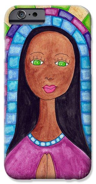 Lupita Portrait Aya Sofya IPhone Case by Emily Lupita Studio