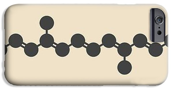 Lutein Carotenoid Molecule IPhone Case by Molekuul