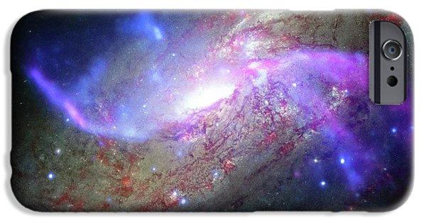 M106 Galaxy IPhone Case by Nasa/cxc/ Caltech/p.ogle Et Al./stsci/jpl-caltech/nsf/nrao/vla