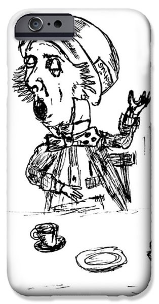 Mad Hatter IPhone Case by Donna Haggerty