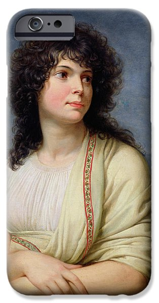 Madame Hamelin 1776-1851 Oil On Canvas IPhone Case by Andrea the Elder Appiani