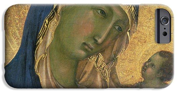 Madonna And Child  IPhone Case by Duccio di Buoninsegna