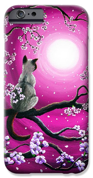 Magenta Morning Sakura IPhone Case by Laura Iverson