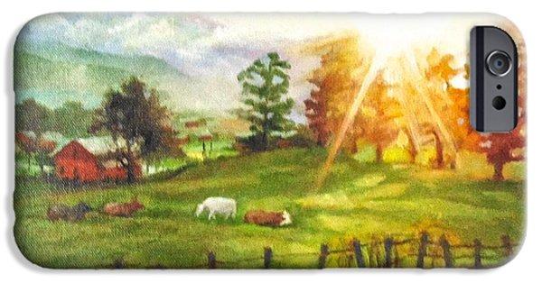 Maggie Valley Sunrise IPhone Case by Janet McGrath
