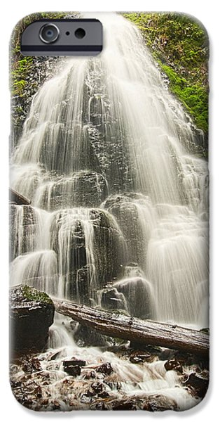 Magical Falls - Fairy Falls In The Columbia River Gorge Area Of Oregon IPhone Case by Jamie Pham