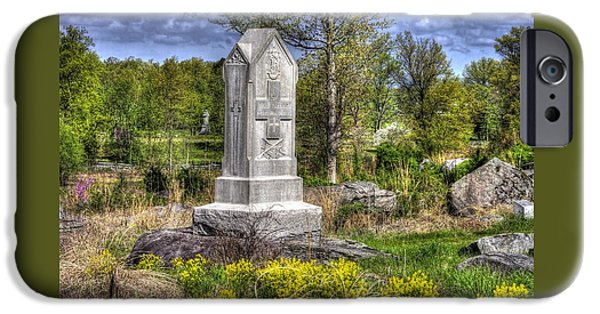 Maine At Gettysburg - 5th Maine Volunteer Infantry Regiment Just North Of Little Round Top IPhone Case by Michael Mazaika