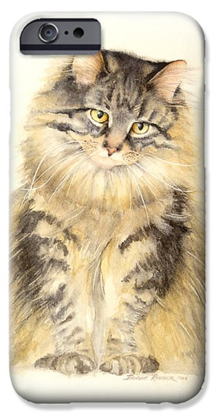 Maine Coon Cat IPhone Case by Bonnie Rinier