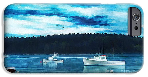 Maine Harbor IPhone Case by Darren Fisher
