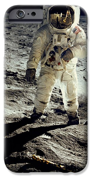 Man On The Moon IPhone 6s Case by Neil Armstrong/Underwood Archive