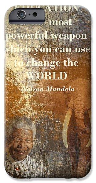 Mandela IPhone Case by Sharon Lisa Clarke