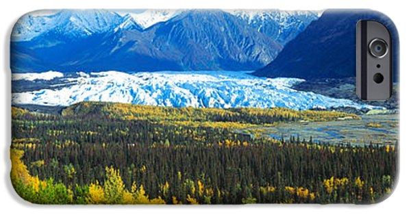 Mantanuska Glacier Ak Usa IPhone Case by Panoramic Images
