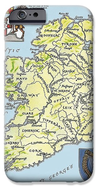 Map Of Ireland IPhone Case by English School