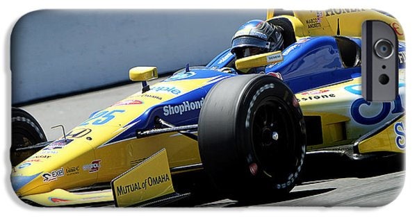Marco Andretti Pit Lane IPhone Case by Bryan Maransky