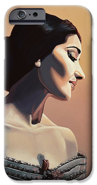 Maria Callas Painting IPhone Case by Paul Meijering
