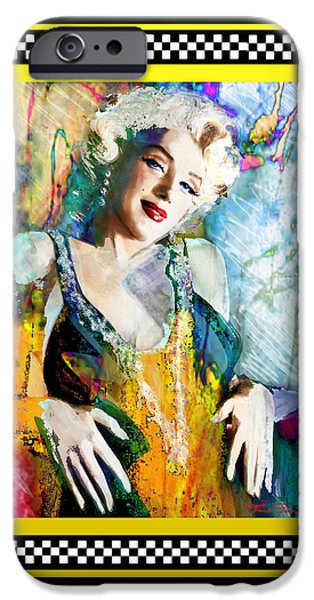 Marilyn 126 Racing IPhone Case by Theo Danella