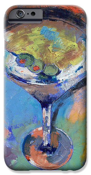 Martini Oil Painting IPhone 6s Case by Michael Creese