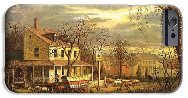 Maryland Crossroads Inn 1872 IPhone Case by Padre Art