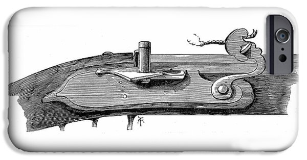 Matchlock Mechanism For Firearms IPhone Case by Universal History Archive/uig