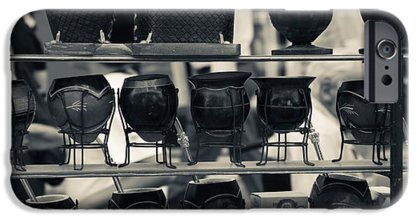 Mate Cups At A Market Stall, Plaza IPhone Case by Panoramic Images