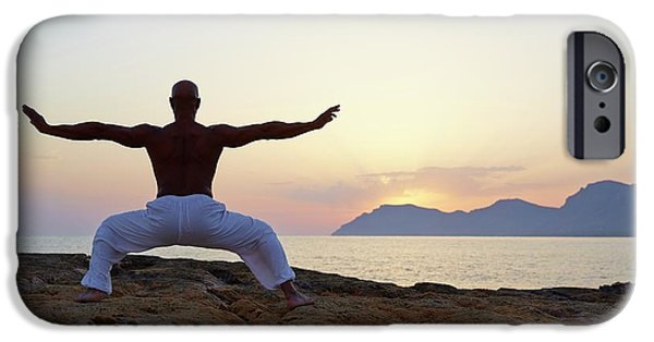 Mature Man Doing Tai Chi IPhone Case by Ruth Jenkinson