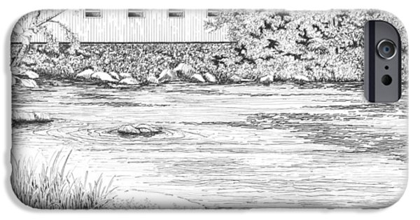 Mckenzie River Covered Bridge IPhone Case by Lawrence Tripoli