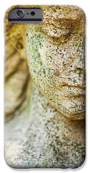 Memphis Elmwood Cemetery - Girl With Cross Square IPhone Case by Jon Woodhams