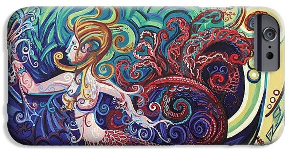 Mermaid Gargoyle IPhone Case by Genevieve Esson