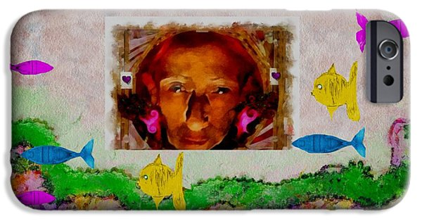 Mermaid In Her Cave IPhone Case by Pepita Selles