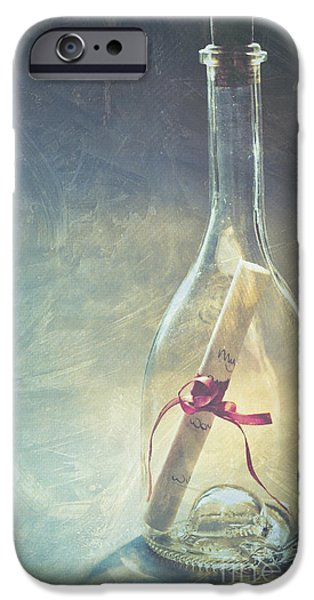 Message In A Bottle IPhone Case by Jan Bickerton