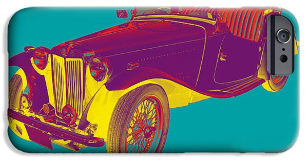 Mg Convertible Antique Car Pop Art IPhone Case by Keith Webber Jr