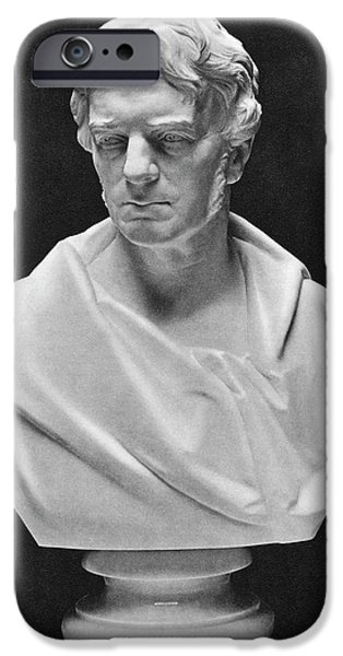Michael Faraday Bust IPhone Case by Science Photo Library