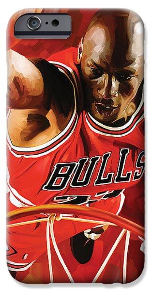 Michael Jordan Artwork 3 IPhone Case by Sheraz A